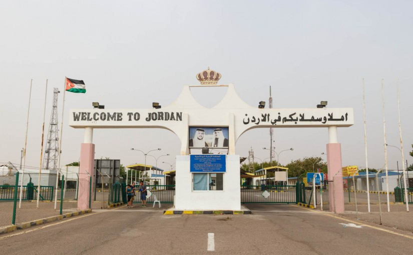 Crossing the border from Israel into Jordan via Eilat/Aqaba
