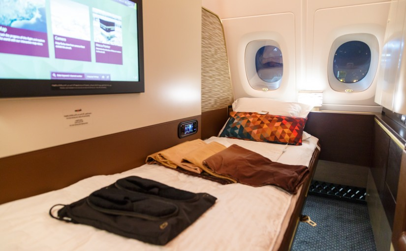 Etihad First Class Apartment Bed