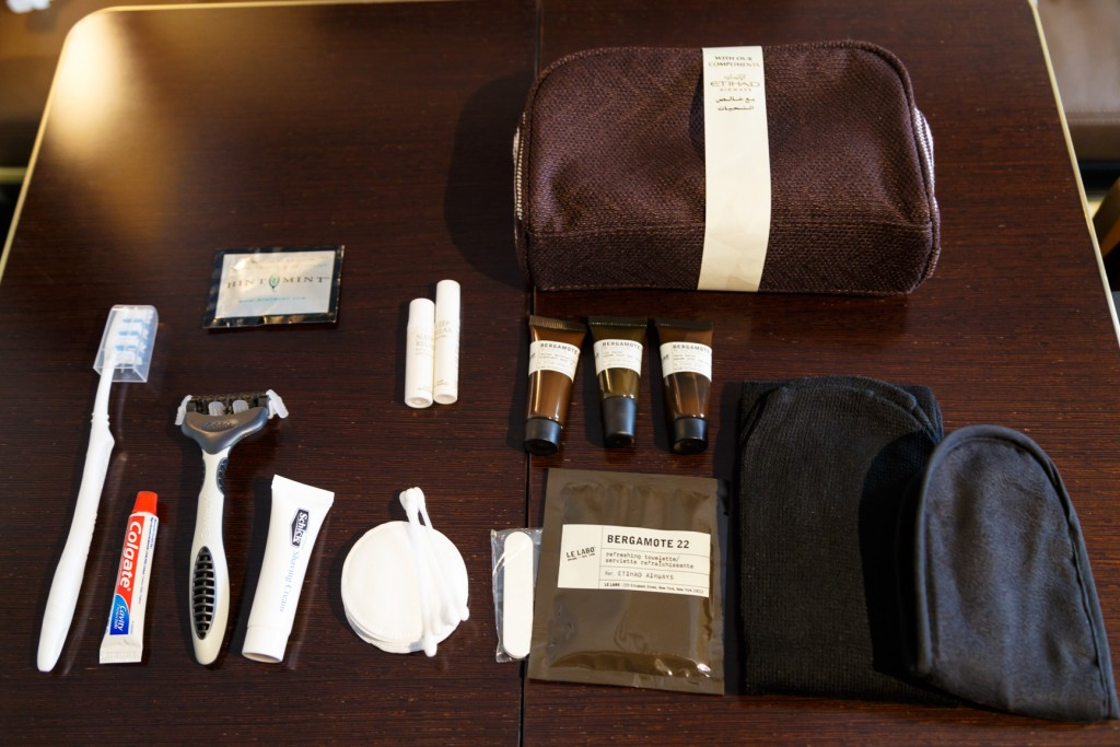 Etihad First Class Apartments Amenity Kit