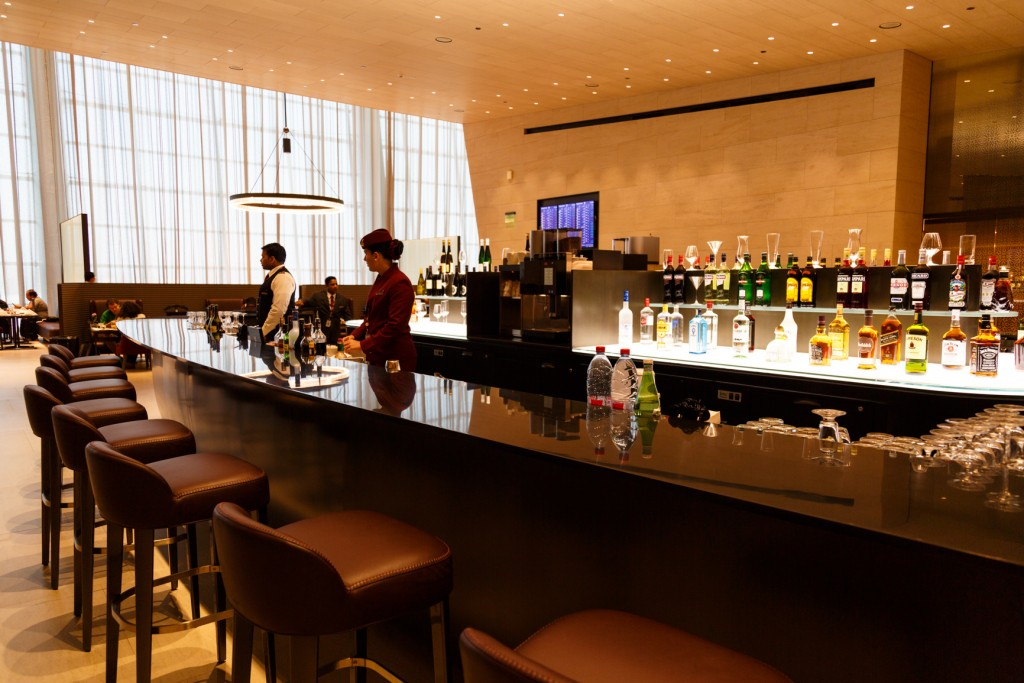 Qatar Airways Al Safwa First Class Lounge Dining