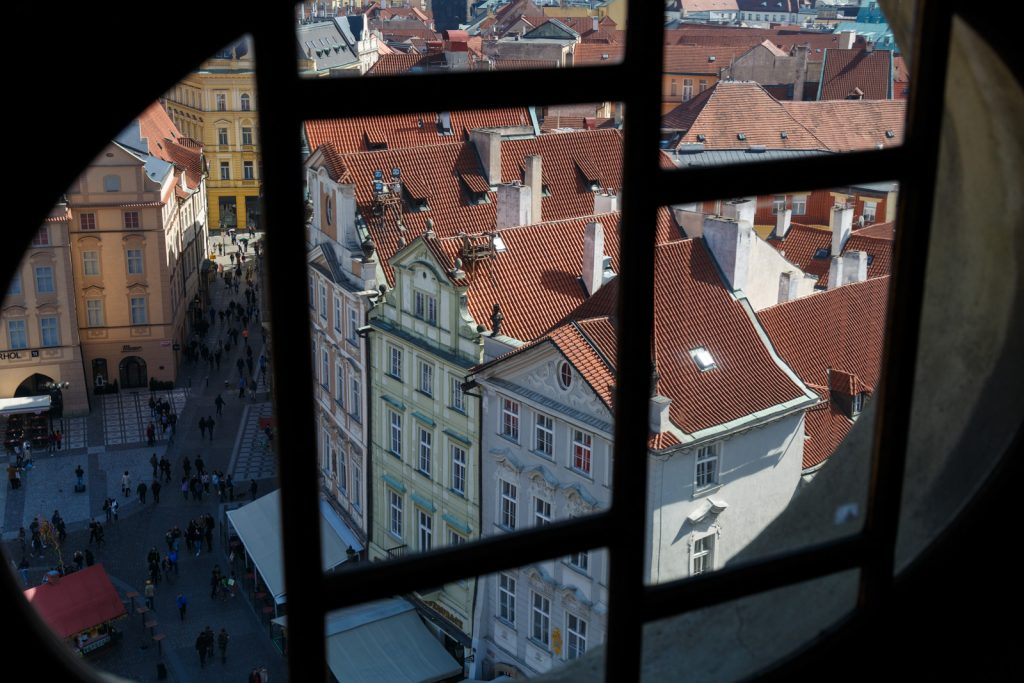 Looking out over Prague's Old Town